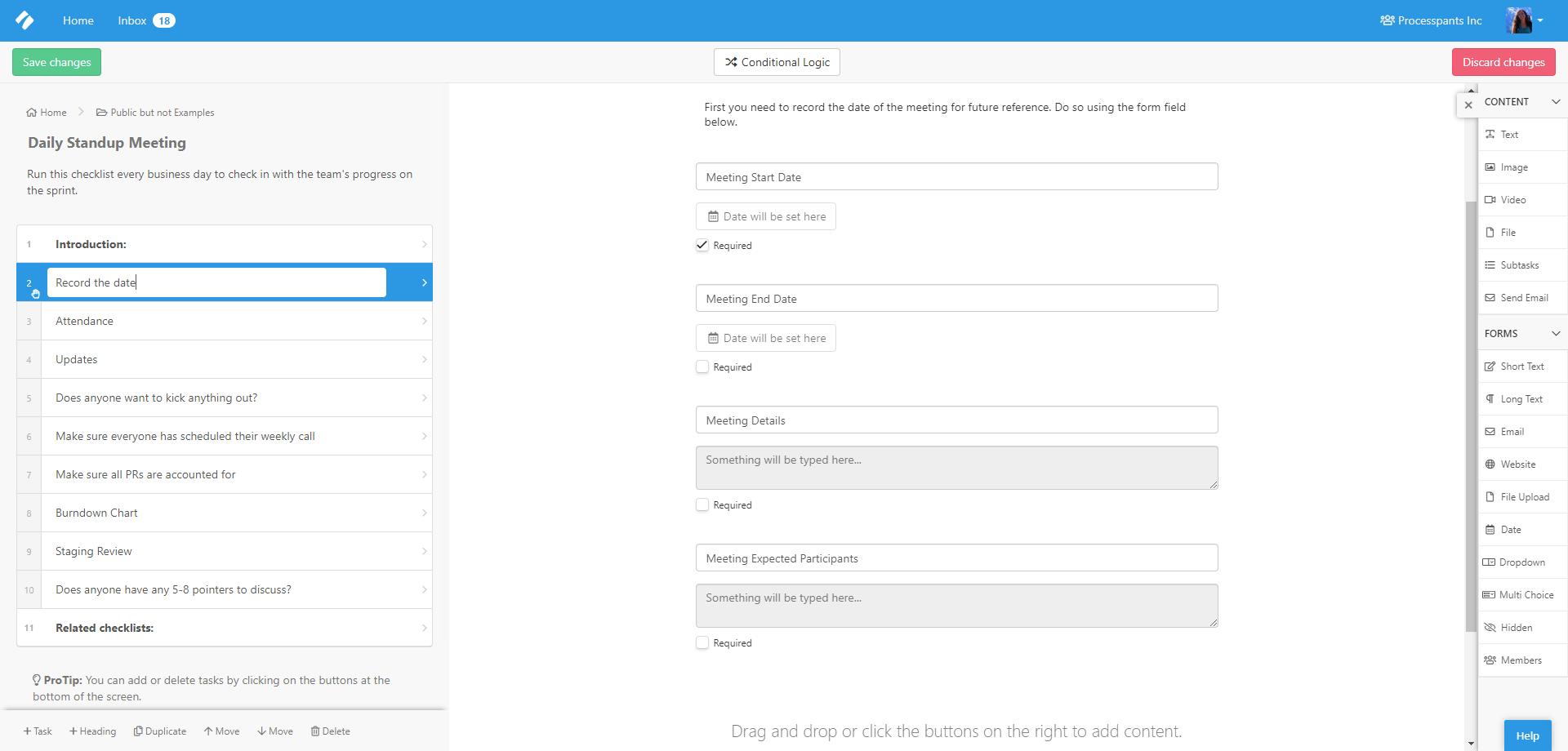 Process Street + Office 365 Integration - edited template