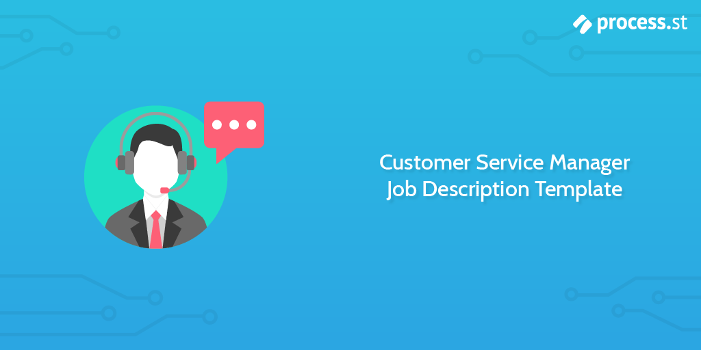 Customer Service Manager Job Description Template