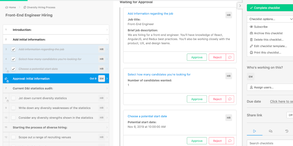 Approvals and Task Permissions