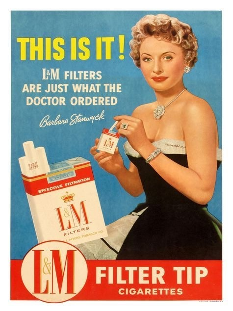 Fasle advertisment example - smoking is good for you