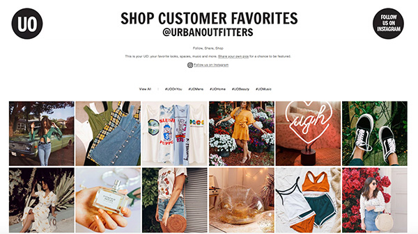 email marketing content urban outfitters