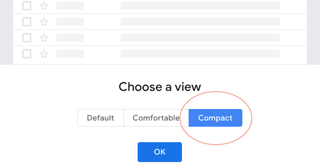 Organize Gmail - Choose a view