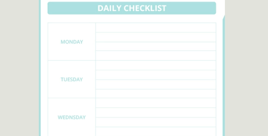 Google Docs checklist - checklist template 7