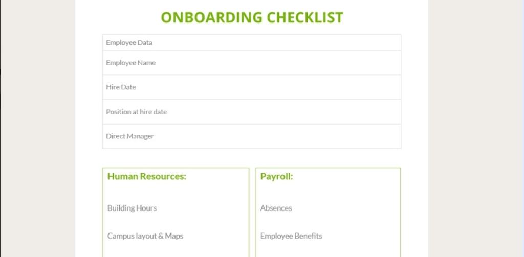 Google Docs Checklist - checklist template 8
