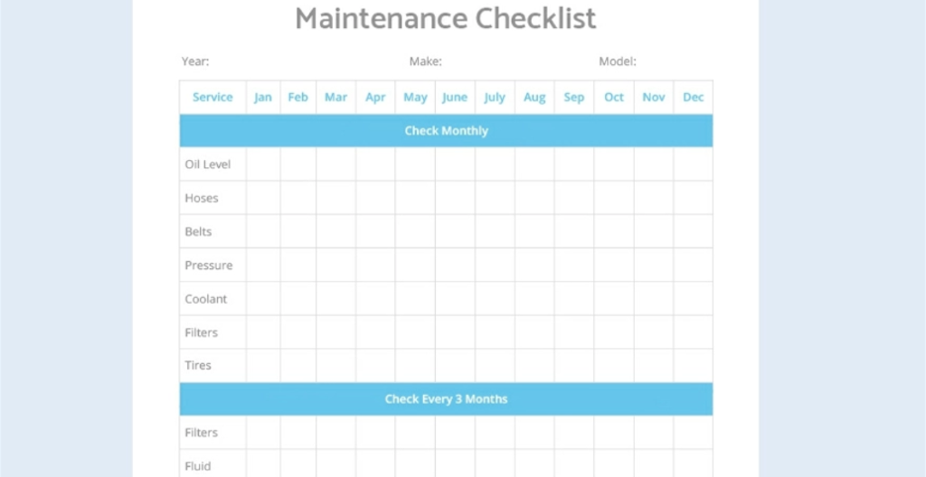 Google Docs Checklist - checklist template