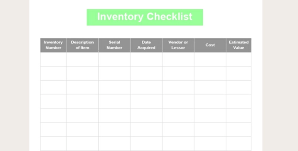 Google Docs checklists - checklist template one