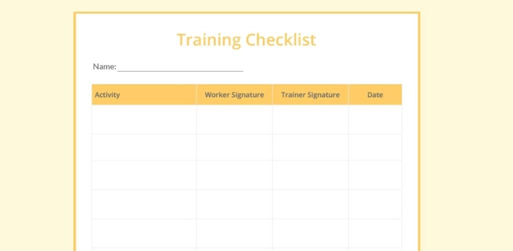 Google Docs checklist - checklist template three
