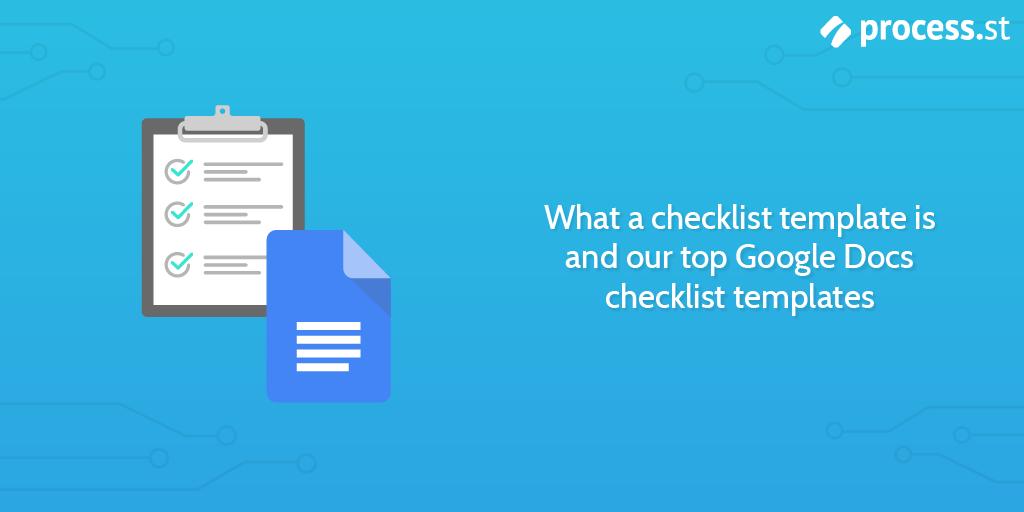 google docs checklist templates