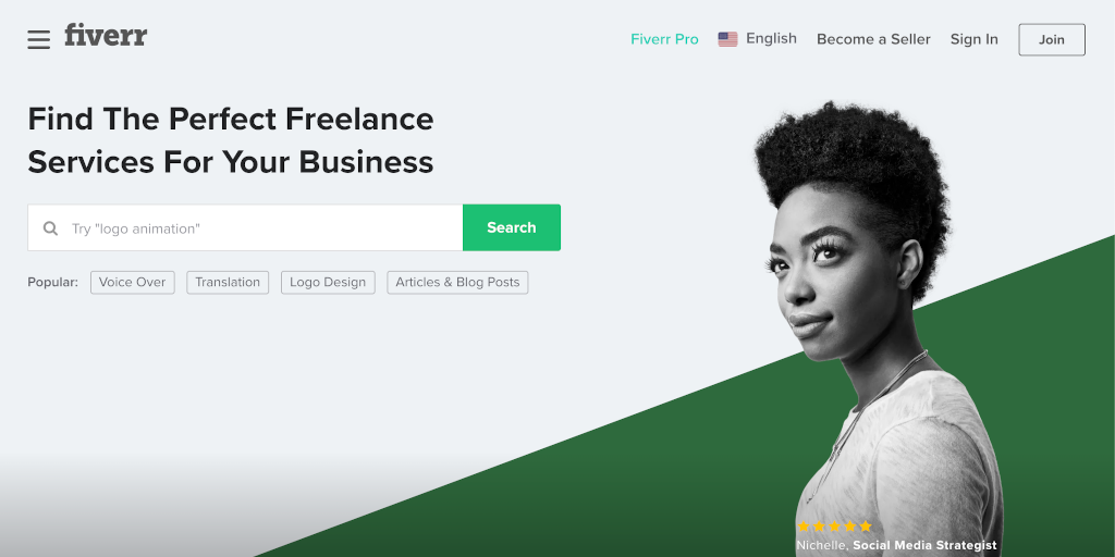 Best freelance websites Fiverr