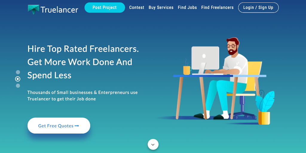 Best freelance websites Truelancer