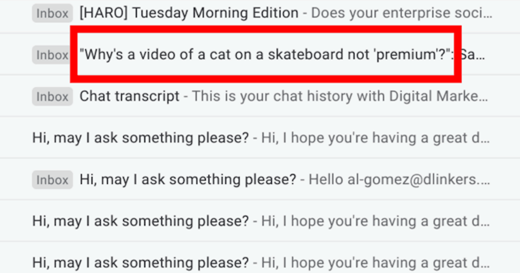 Email CRO - Subject line