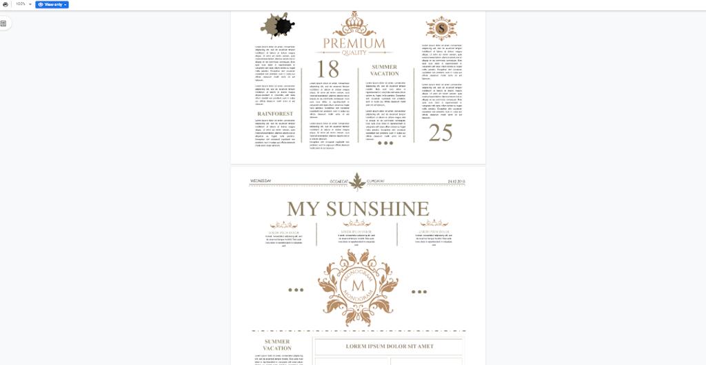 Google Doc Template - Creative Magazine