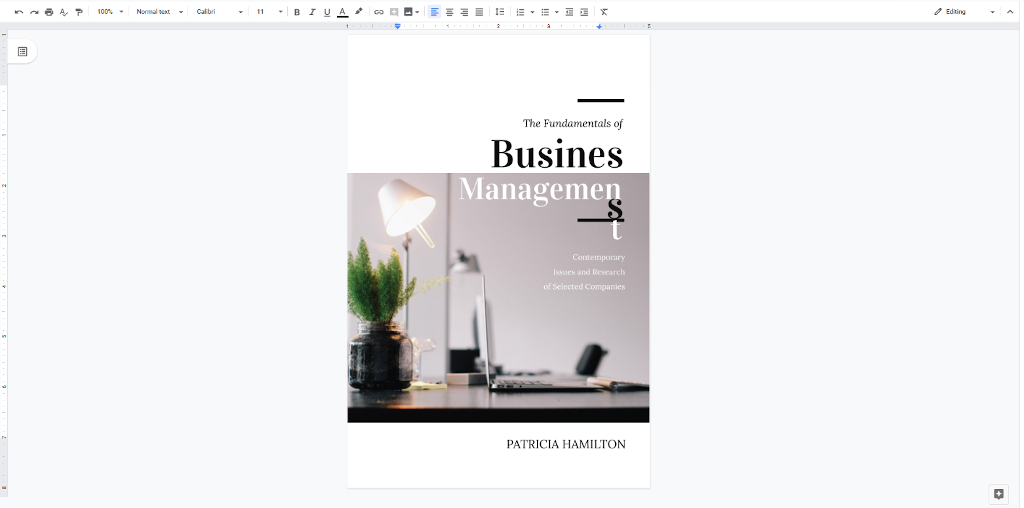 Google Docs Templates - Business Management Book Cover