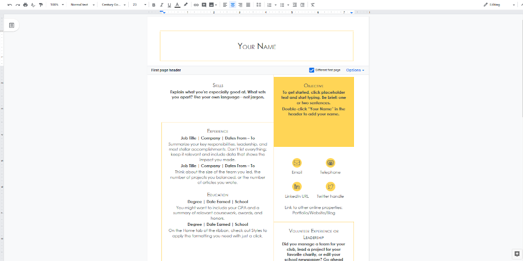Google Docs Templates - Crisp and Clean Cover Letter template
