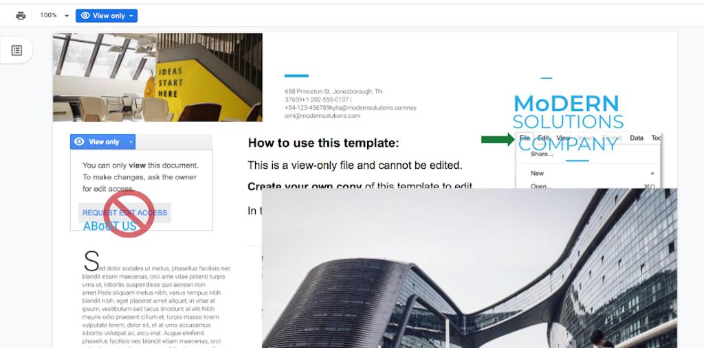 Google Doc Templates - Modern Brochure 2