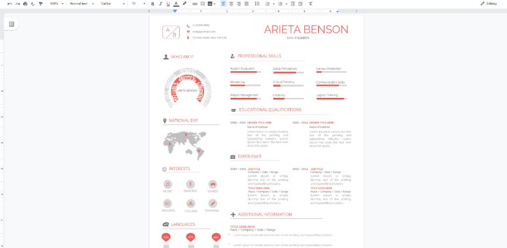 Google Docs Templates - Professional Visual template