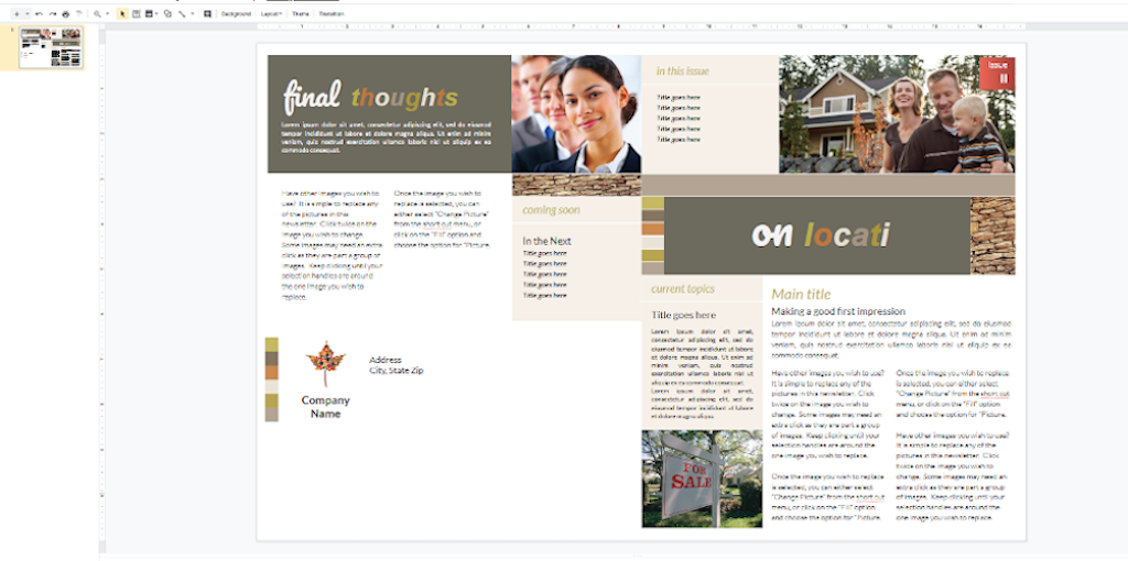 Google Docs Templates - Retail newsletter