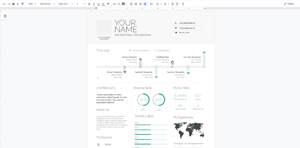 Google Docs Templates - Infographic Resume