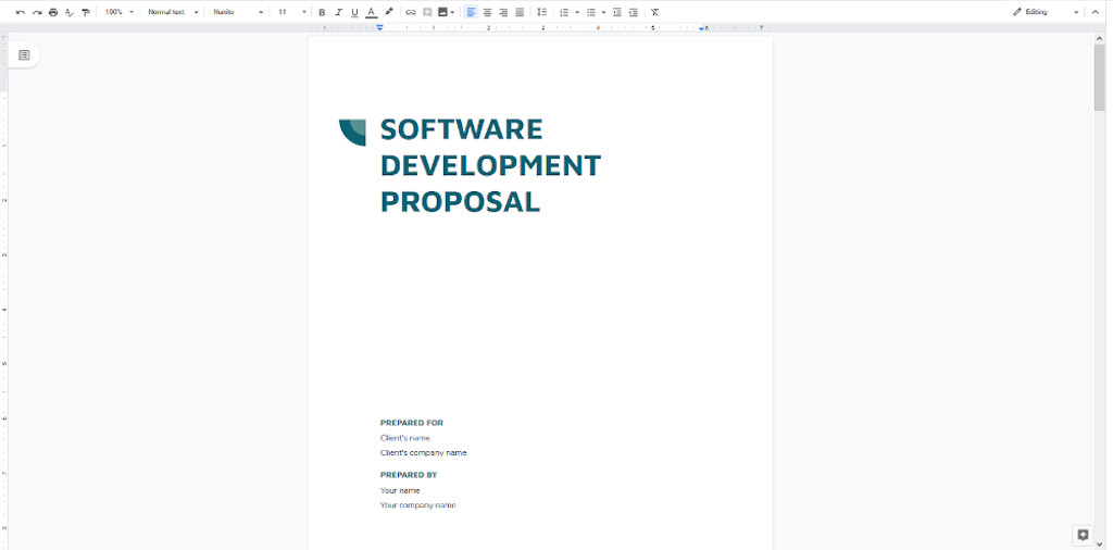 Google Docs Templates  - Software Development