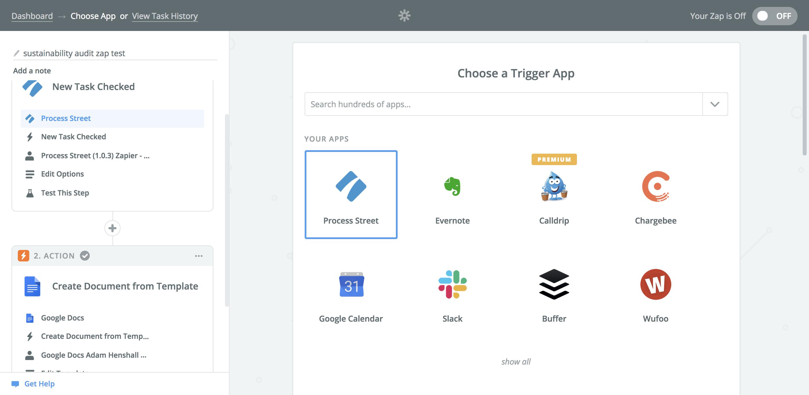 Google Docs templates - step 2