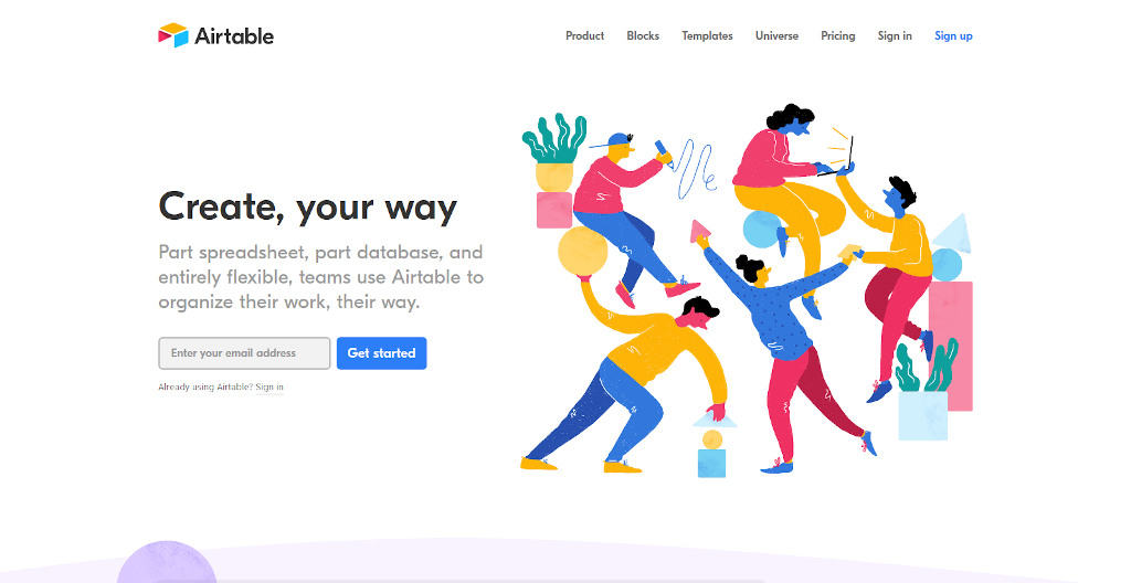 Team management tools - Airtable