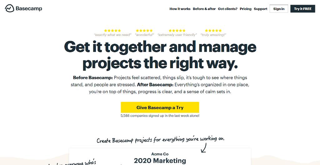 Team management tools - Basecamp