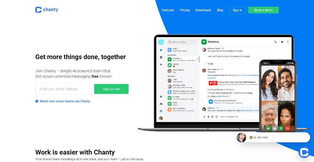 Team management tools - Chanty