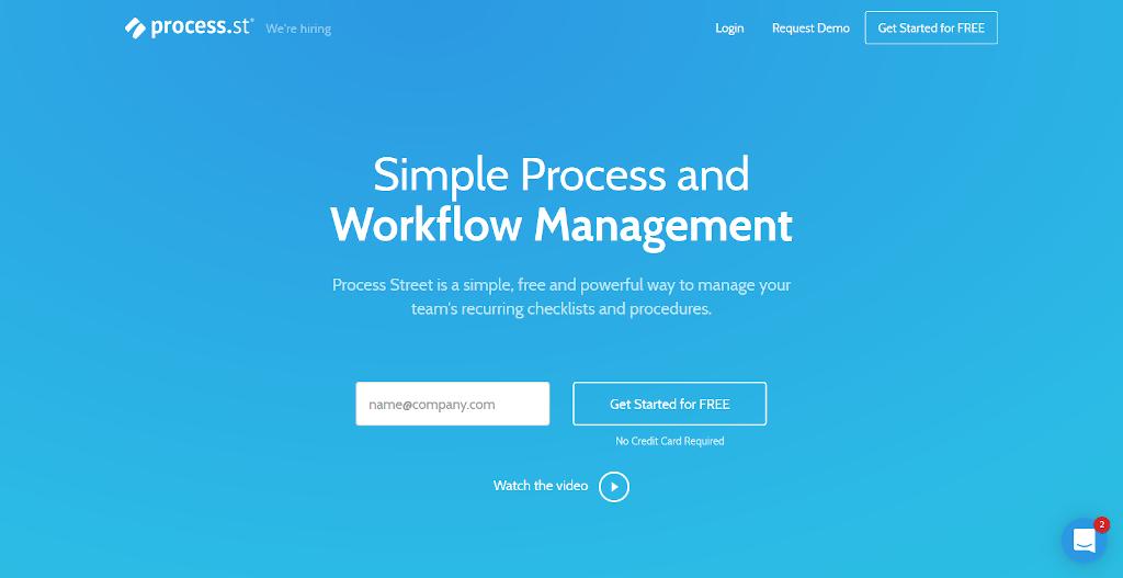 Team management tools - Process Street