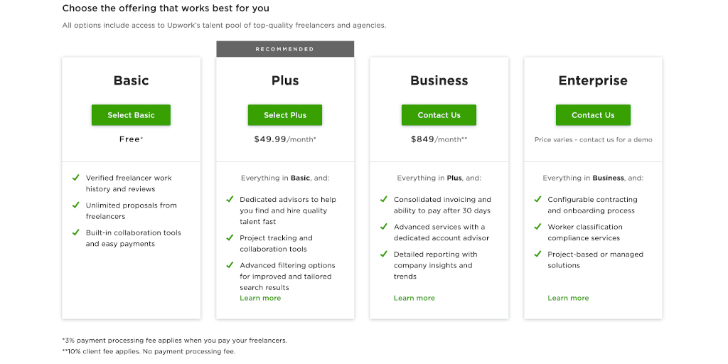 Upwork benefits freelancer