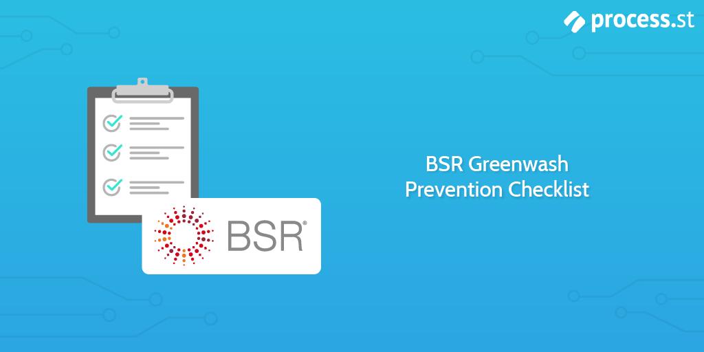 BSR Greenwashing Prevention Checklist