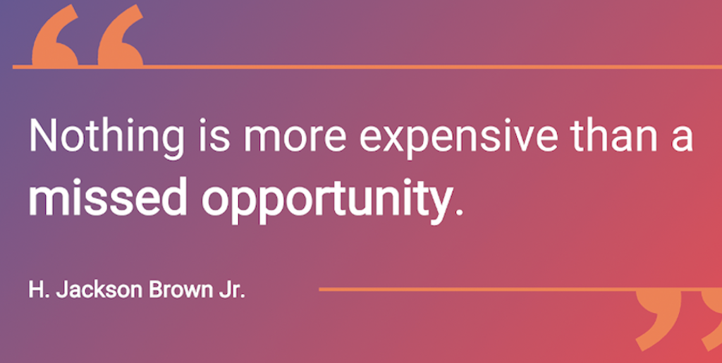 Marketing events - Quote Jackson J Brown