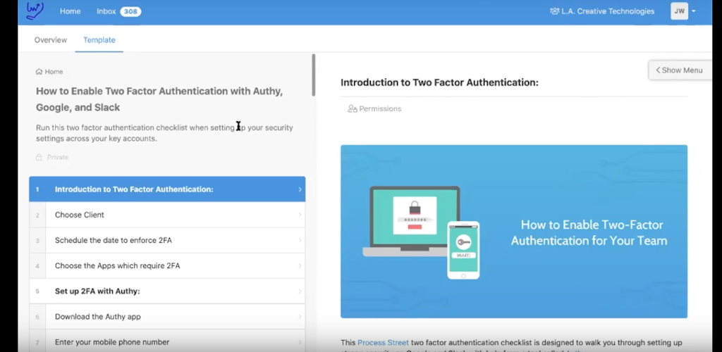 Two-factor authentification