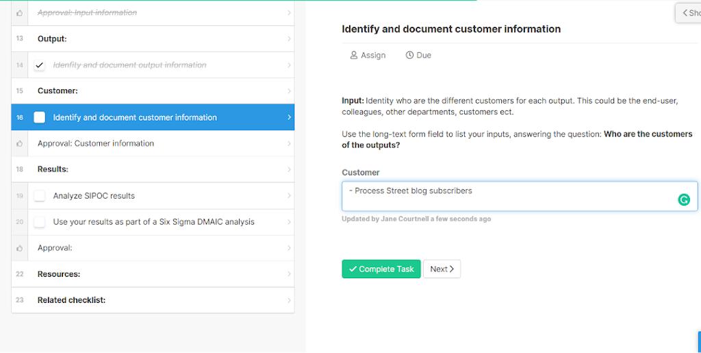 SIPOC-Customer-information