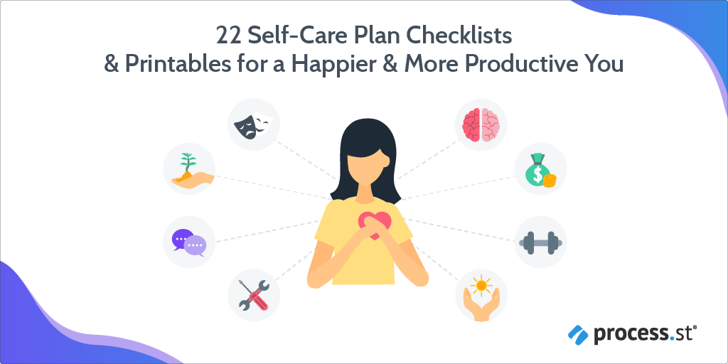 22 Self-Care Plan Checklists & Printables for a Happier & More Productive You