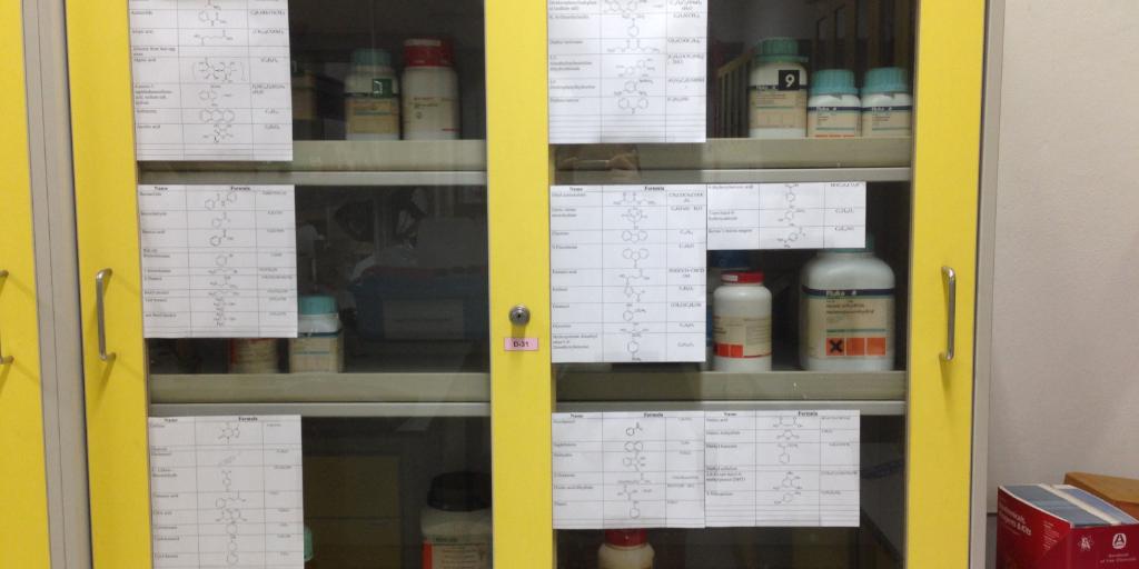 lab chemical storage