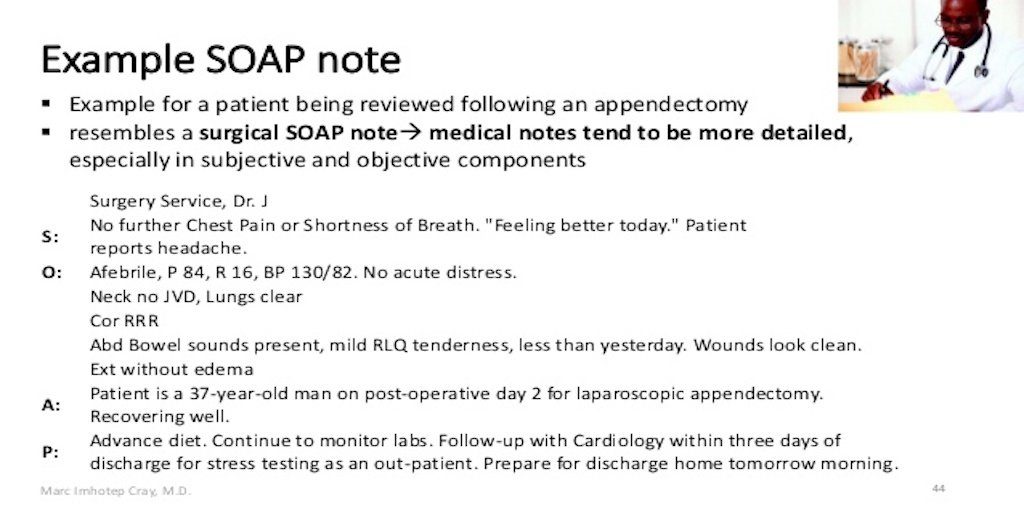 soap note example 1