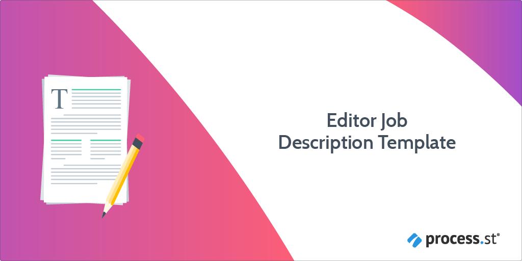 editor job description template