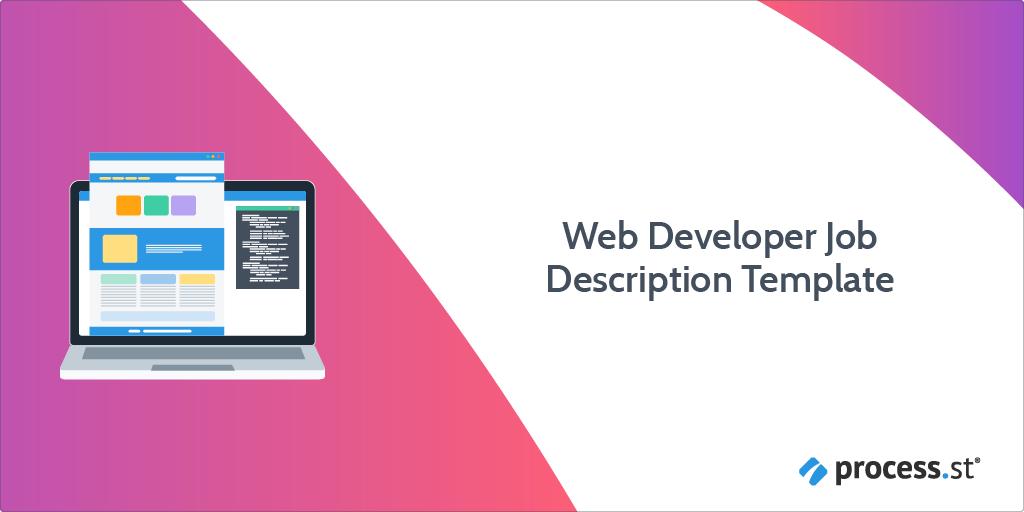 web developer job description template
