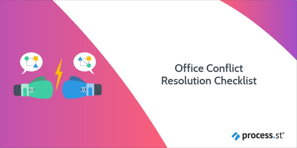 office conflict resolution checklist