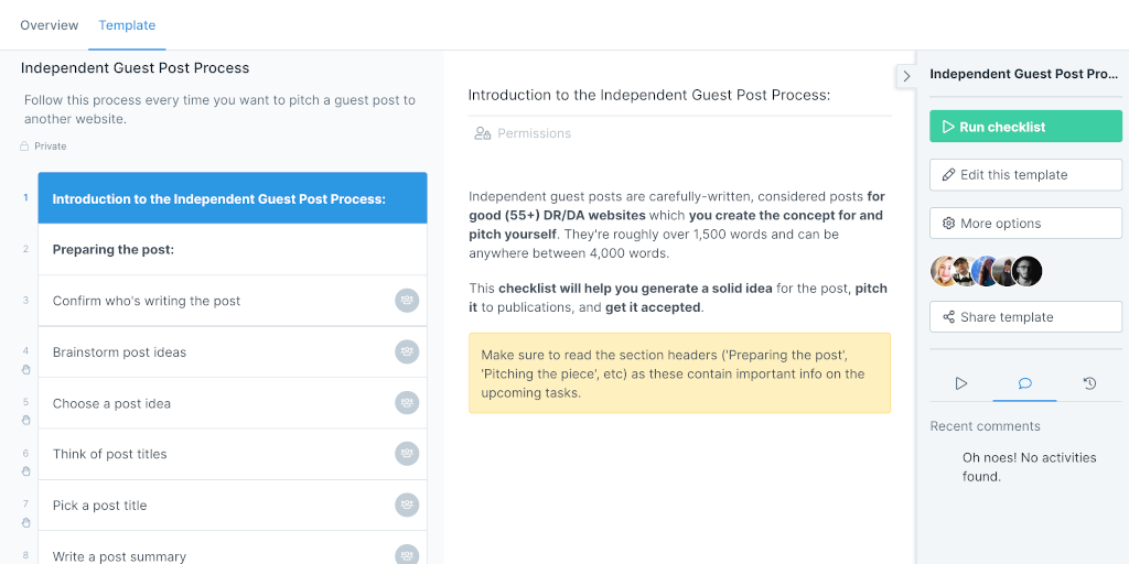 guest posting - process