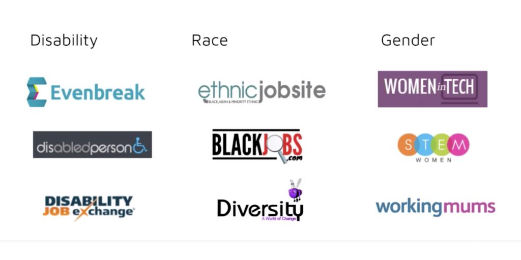 Diversity hiring job boards