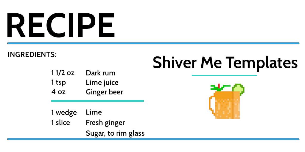 Herbie Porter's Cocktails: Shiver Me Templates