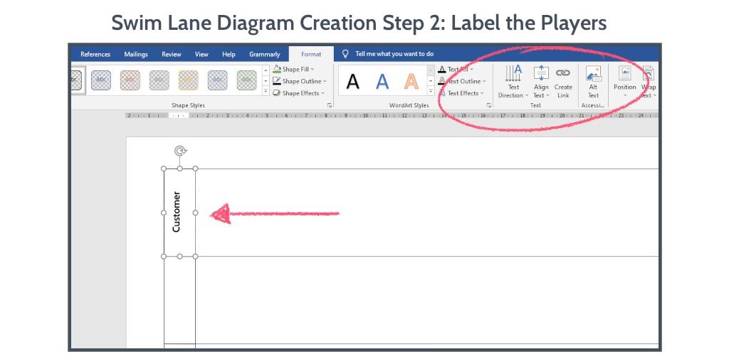 swim-lane-diagram-word-step-2