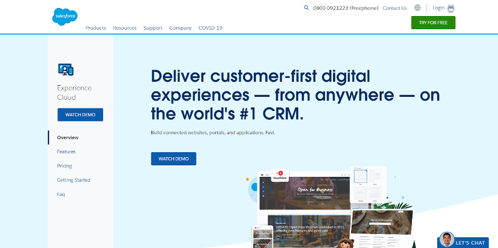 Salesforce cloud experience
